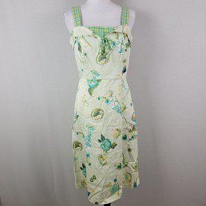 Sangria Lime & Drinks Novelty Print Dress